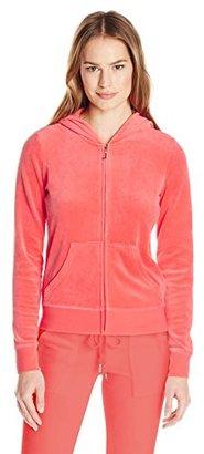 Juicy Couture Black Label Women's Logo Velour Filagree Crown Original Jacket $208 thestylecure.com
