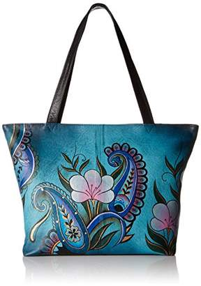 Anuschka Anna by GenuineLeatherConvertible Large Tote Hand-Painted Original Artwork