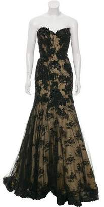 Mac Duggal Embellished Strapless Gown w/ Tags