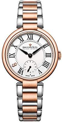 Dreyfuss & Co Dreyfuss Womens Chronograph Quartz Watch with Stainless Steel Strap DLB00159/01/L