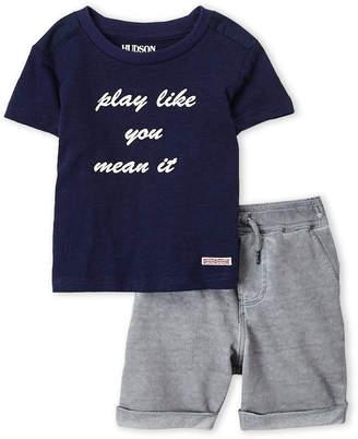 Hudson Infant Boys) Two-Piece You Wear It Slub Tee & Shorts Set