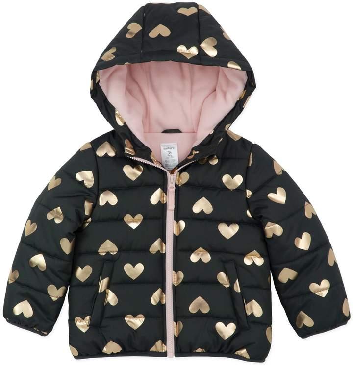 Heart Bubble Jacket in Gold