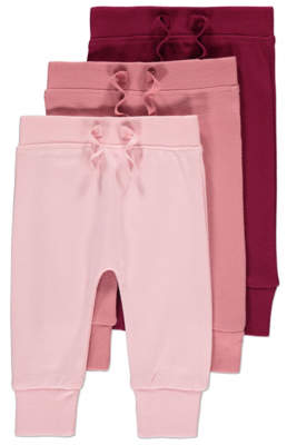 George Pink Joggers 3 Pack