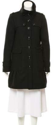 Burberry Fluted Wool Coat