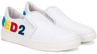 DSQUARED2 (ディースクエアード) - Dsquared2 Kids logo embroidered sneakers