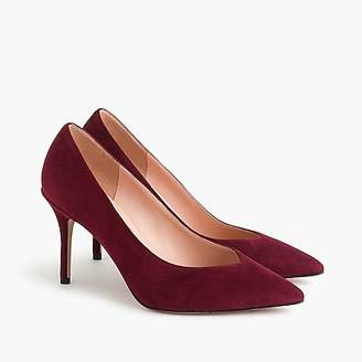 J.Crew Suede V-cut pumps