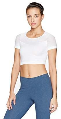 Alo Yoga Women's Mesh Crop,L