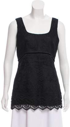 Anna Sui Sleeveless Lace Top