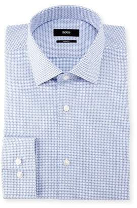 BOSS Ismo Mini-Check Dobby Dress Shirt