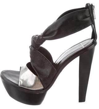 Alexander Wang Leather Platform Sandals