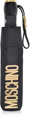 Moschino Metal Signature Black Mini Umbrella