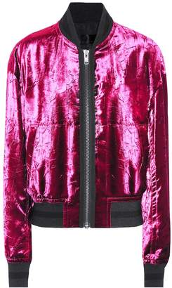 Haider Ackermann Velvet bomber jacket