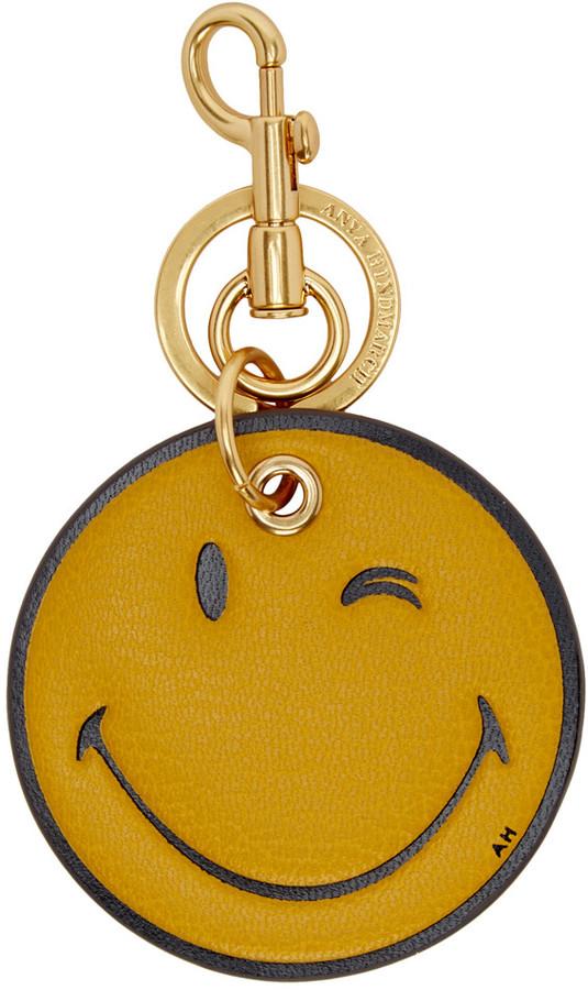 Anya HindmarchAnya Hindmarch Yellow Wink Keychain