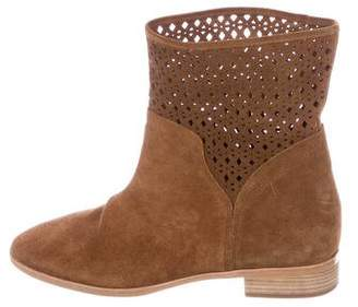 MICHAEL Michael Kors Michael Kors Suede Round-Toe Ankle Boots