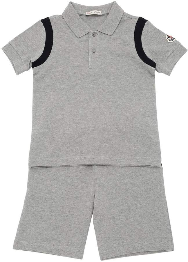 Cotton Piqué Polo Shirt & Shorts