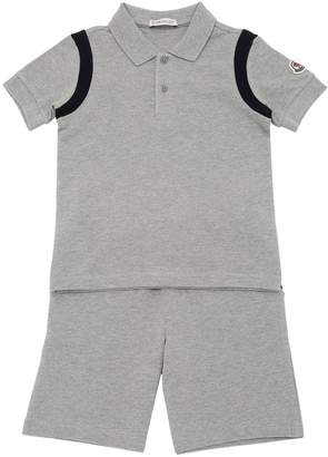 Moncler Cotton Piqué Polo Shirt & Shorts