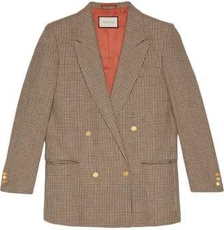 Gucci Linen jacket with Spiritismo appliqué