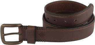 Columbia Leather Double-Stitch Casual Men's Belt