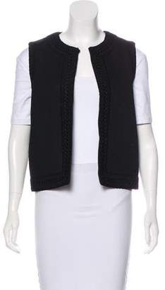 Valentino Embroidered Open-Front Vest