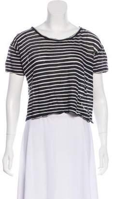 A.L.C. Striped Ramie T-Shirt