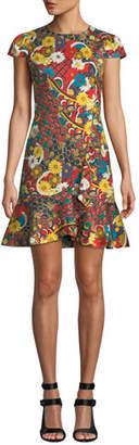 Alice + Olivia Kirby Ruffle Short-Sleeve Dress