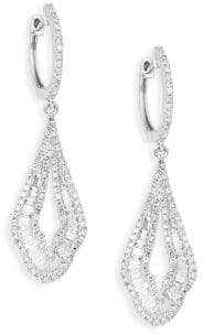 Effy 14K White Gold & Diamond Drop Earrings