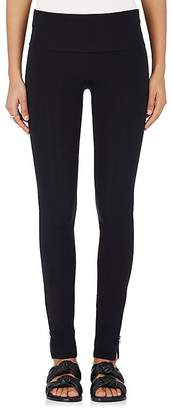 Helmut Lang Women's Ankle-Zip Tech-Jersey Leggings