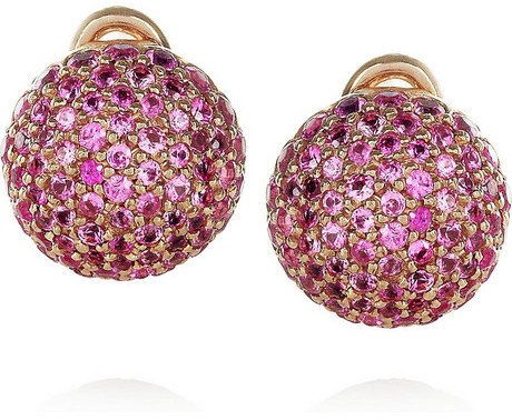 Carolina Bucci 18-karat rose gold and sapphire earrings