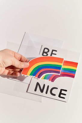 David Shrigley Be Nice Puffy Sticker Card