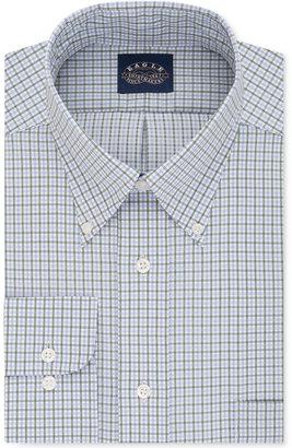 Eagle Men's Classic-Fit Stretch Collar Non-Iron Check Dress Shirt $69.50 thestylecure.com