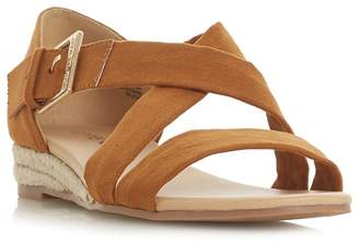 Head Over Heels by Dune - Tan 'Kylaa' Wedge Heel Espadrilles