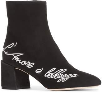 Dolce & Gabbana L'Amore Block Heel Bootie
