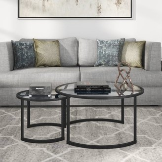 Hudson&Canal Mitera coffee table set in blackened bronze