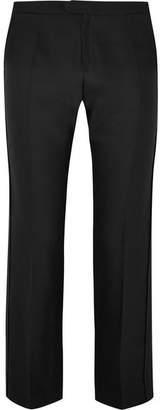 Chloé Wool And Silk-blend Straight-leg Pants - Black