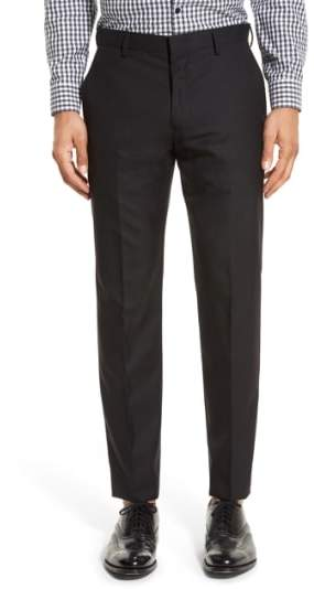 J. CREW Ludlow Flat Front Solid Wool Trousers