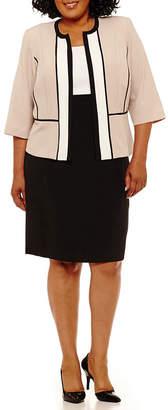 Studio 1 Sleeveless Colorblock Jacket Dress - Plus