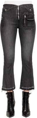 RtA Lolita Crop Boot Cut Cotton Denim Jeans