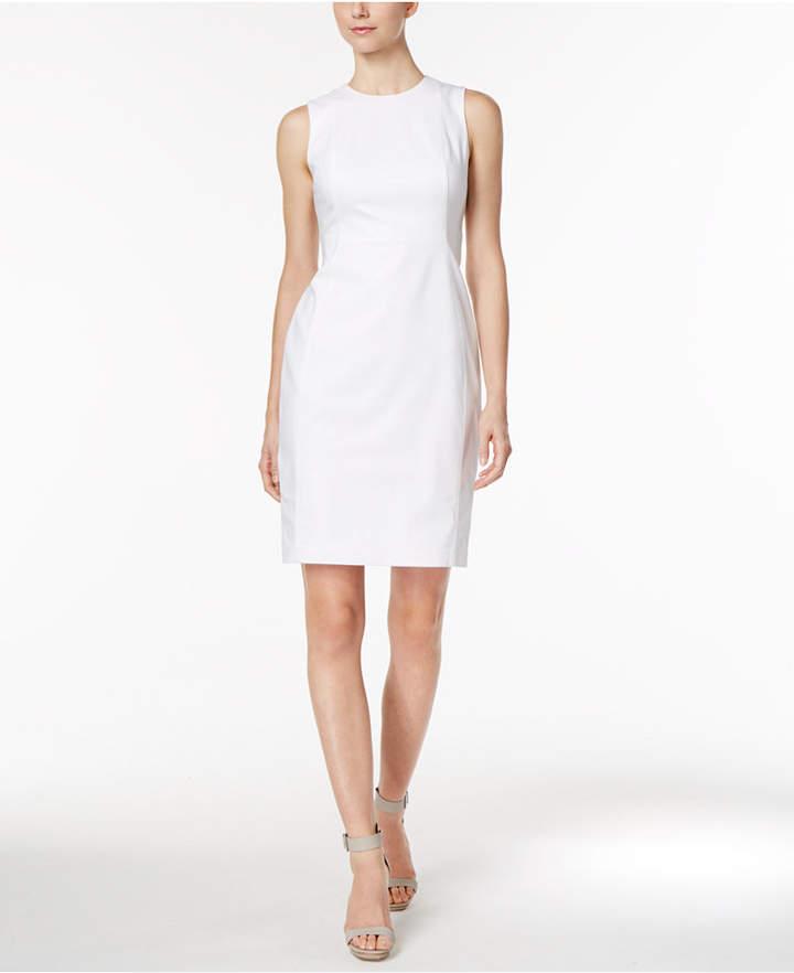 Calvin Klein Stretch Canvas Sheath Dress 5