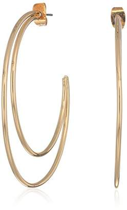 French Connection Women's Large Double C Hoop Earrings