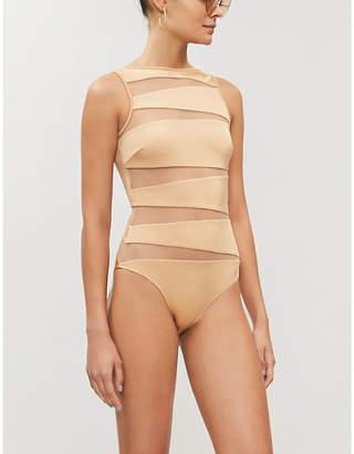 Emma Pake Valentina boat-neck swimsuit
