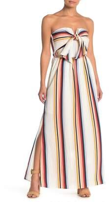 Ash MAX & Striped Strapless Maxi Dress