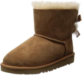 UGG Y Mini Bailey Bow Youth Girls 5 Suede Snow Boots UK 4 EU 35