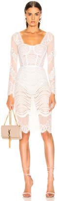 Jonathan Simkhai Lace Bustier Bodysuit Dress