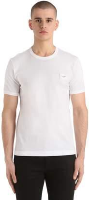 Dolce & Gabbana Logo Patch Cotton Jersey T-Shirt