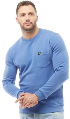 Lyle & Scott Vintage Mens Garment Dye Sweatshirt Storm Blue