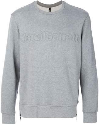 Neil Barrett hashtag embossed sweatshirt