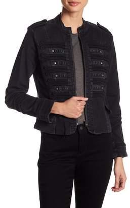 Nicole Miller Denim Military Jacket
