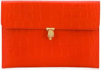Alexander McQueen crocodile embossed clutch