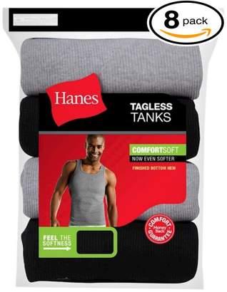 Hanes Men's Big/Tall FreshIQ A-Shirt Tank (Pack of 8)