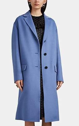 Prada Women's Brushed Wool-Blend Melton Coat - Lt. Blue